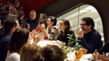 People enjoying dinner at Babette cafe