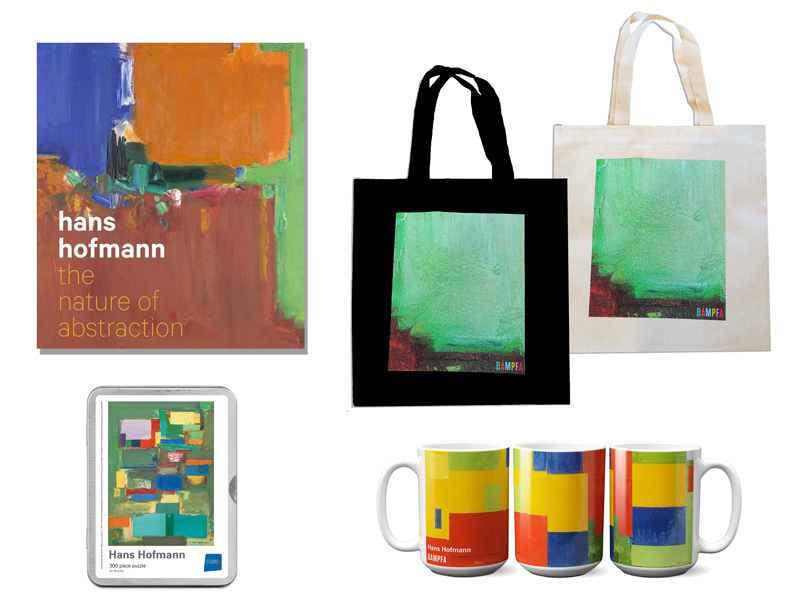 A variety of Hans Hofmann exclusive items in the BAMPFA Store.