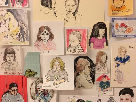 Art Lab portrait drawings