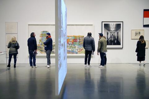 Art exhibition opening
