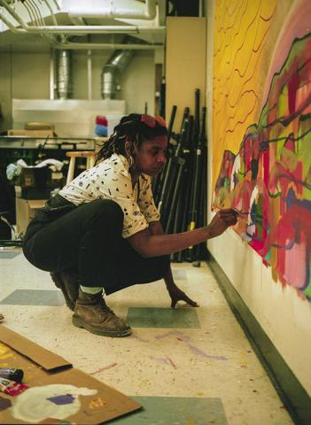 Jade Ariana Fair in her Oakland studio