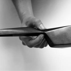 Diller Scofidio + Renfro: Hand holding a model for BAMPFA, 2012; digital photograph. Courtesy and © Diller Scofidio + Renfro.