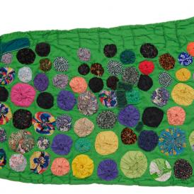 photograph of Rosie Lee Tompkins 2005 quilt