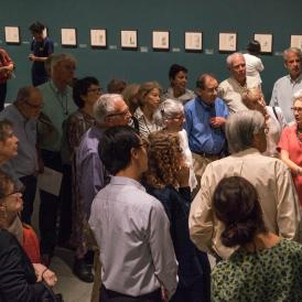 Curator Julia White leads a gallery talk