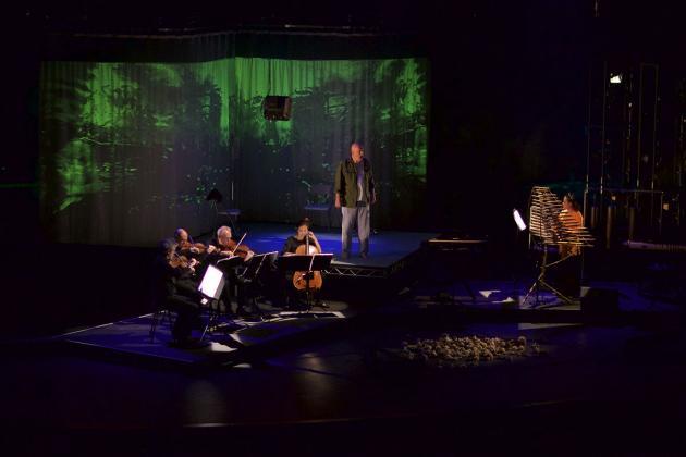 Kronos Quartet, Rinde Eckert, and Vân-Ánh Võ perform My Lai, Sunday, March 4, 2018 in Zellerbach Hall