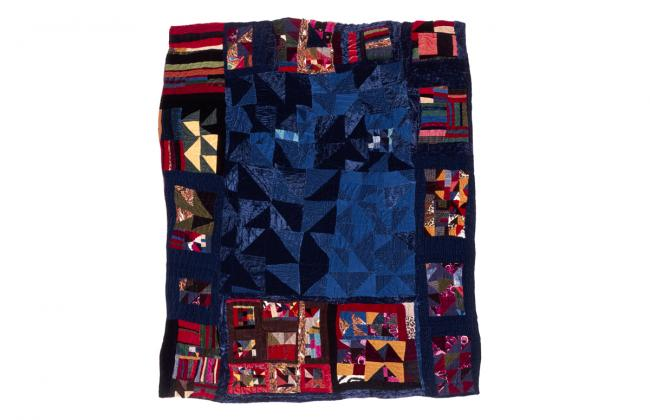 photograph of Rosie Lee Tompkins 1986 quilt