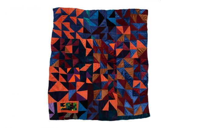 photograph of Rosie Lee Tompkins 1991 quilt