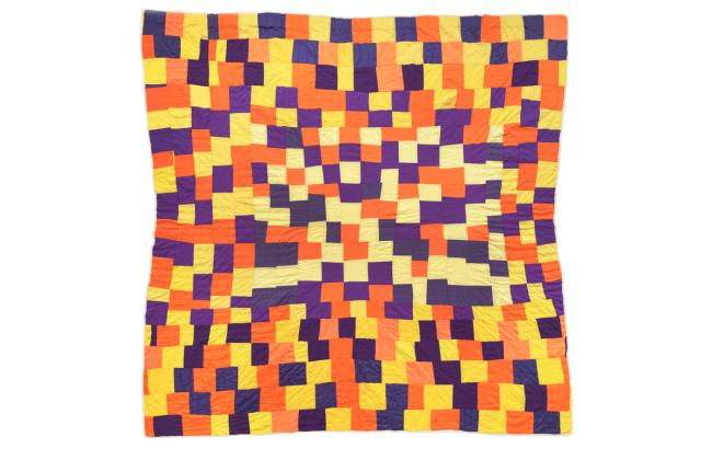 photograph of Rosie Lee Tompkins 1996 quilt
